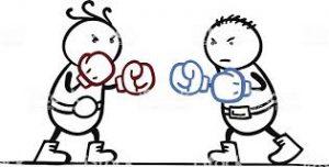 2 Typen beim Boxen