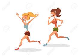 2 laufende Frauen